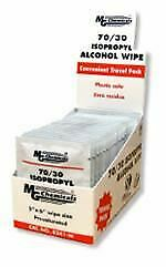 Box of 25 Isopropyl Alcohol IPA 70/30 Individual Wipes 8241-WX25 MG Chemicals