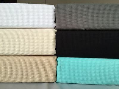 New 100% Premium Cotton Luxury Waffle Weave Blanket Throw Rug Bed Spread Linen