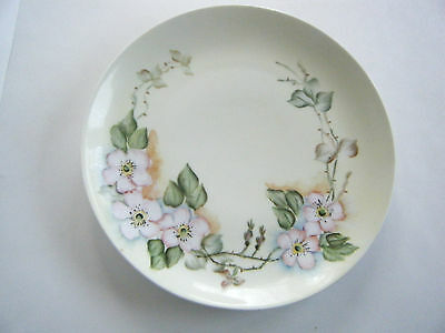 Vintage Hand Painted Plate Welmar Germany Dogwood Blossoms