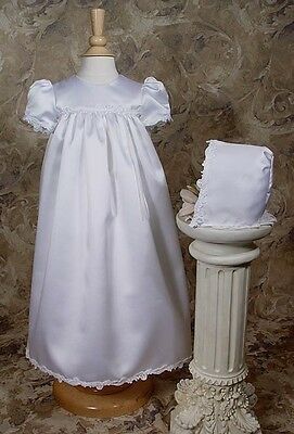 NWT Girls Gown BJ30GS Satin Baptism Christening 75% Off Closeout