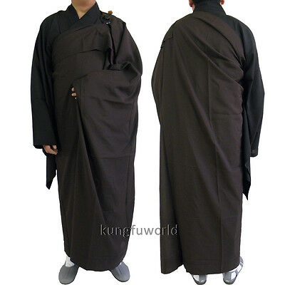Buddhist Monk Two Pieces Meditation Kesa Robe Shaolin Martial arts Kung fu Suit