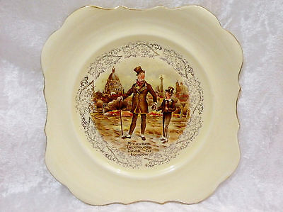 """Lancaster Plate - Charles Dickens Mr Micawber vgc (9"""")"""