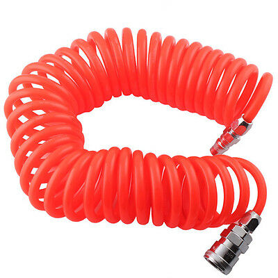 6m Coil Air Hose Recoil Hose 5x8mm PU with Standard Nitto Type Quick Fittings