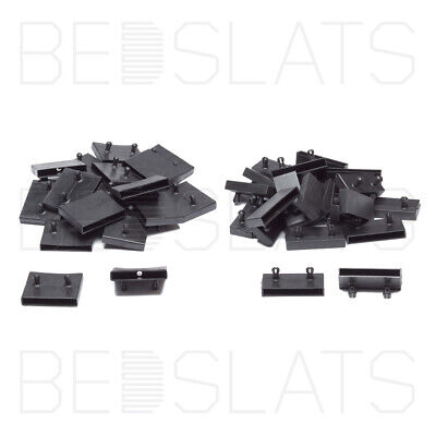 Replacement 63mm Bed Slat Holders/ Side Caps for Beech Sprung Bed Slats 2 Prong