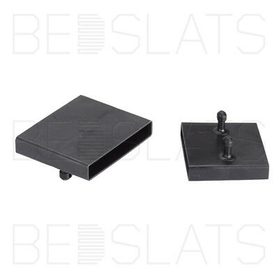63mm Bed Slat Holders/ Centre Caps for Centre Rails on Metal Tubular Bed Bases