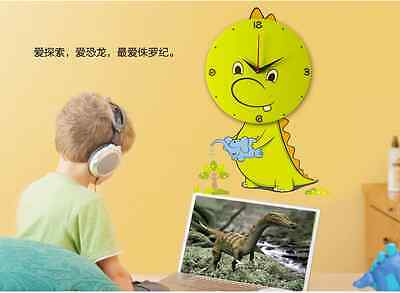 Cartoon Kid's Room Decorate 3D Removeable Wall Sticker with Wall Clock
