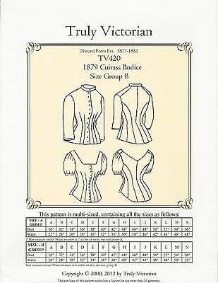 SEWING PATTERN 1885 Cuirass Bodice Blouse Victorian reproduction ... 32d14a8a4