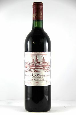 Chateau Cos d' Estournel 1985 1 x 750ml, Saint Estephe Bordeaux red wine rare