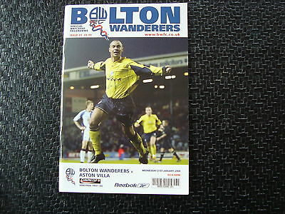Bolton v Aston Villa 2004 League Cup Semi Final 1st Leg