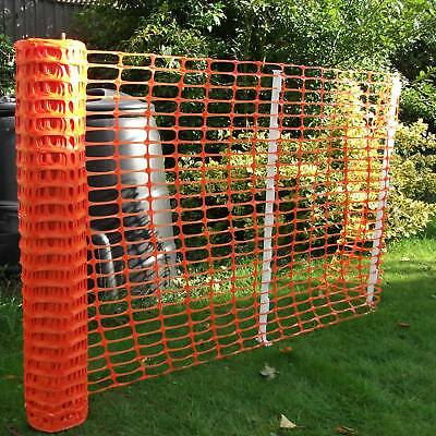 Orange Plastic Barrier Mesh - Dog, Pet, Chicken, Event, Fencing 5.5kg - 1m x 50m