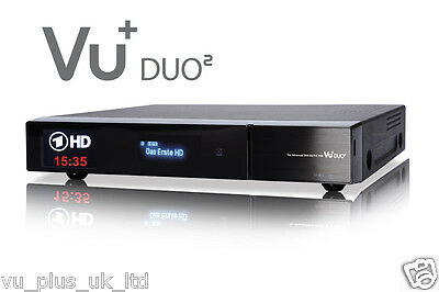 GENUINE VU+ Duo2 (2 x DUAL DVB-S2 Tuners)  Satellite + VU+ Darkgold LNB 0.1db