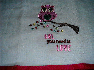 Thick Kitchen Dish Towels Crochet Tops Listing #T532 Valentine's Day Owl