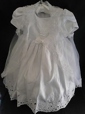 White Girl Christening Baptism party  Dress Gown Size 1.