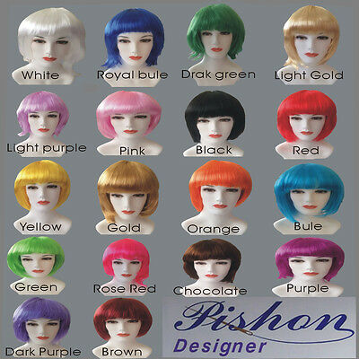 Fashion BOB style (18 colors) Straight Bang Short Straight Party Wig wigs