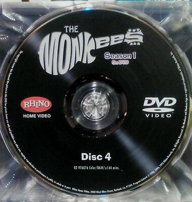 THE MONKEES,SEASON 1, DISC 4 ONLY- REPLACEMENT DISC,  FROM BOX SET