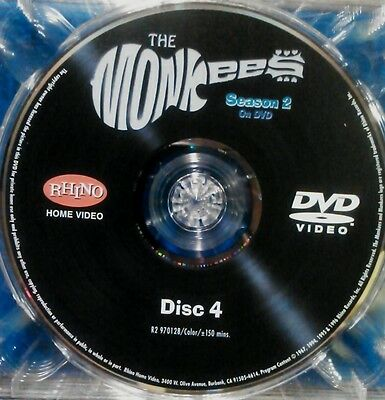 """THE MONKEES,SEASON 2, """"DISC 4 ONLY"""" - REPLACEMENT DISC,  FROM BOX SET"""