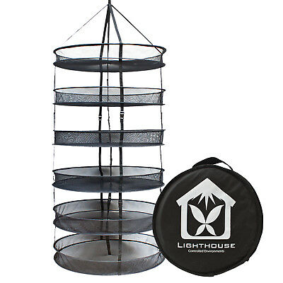 LightHouse Pop Up Drying Net Hydroponic 6 Layer Round DryNet