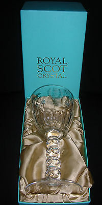 "Superb cut Goblet "" Wedding Prince William & Catherine 2011 "" Royal Scot Crystal"