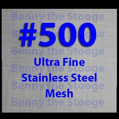 """12""""x12"""" Stainless Marine Grade #500 Mesh Filtration Twill Weave FREE SHIP!"""