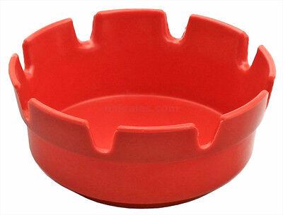 "Plastic Ash Tray 4"" Red Ashtray Melamine Deep Well Outdoor NEW!"