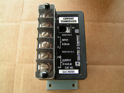 Square D CLE-202001 Current Transformer #63050-316-01 NEW!!! Free Shipping