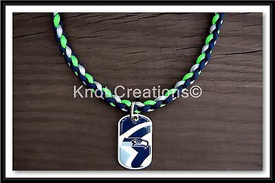 NFL Paracord Necklace With Officially Licensed Dog Tag