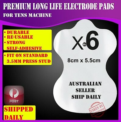 6 Electrode Pads for TENS EMS Machine Massager XFT CIRCULATION BOOSTER Unit