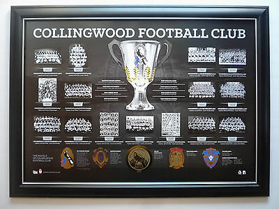 Collingwood Football Club Premiership History Afl Magpies Premier Years Print