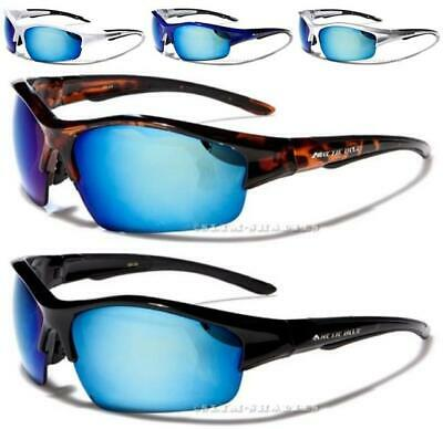 New Sunglasses Arctic Blue Designer Sports Large Big Wrap Mens Black White Uv400