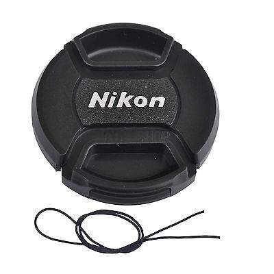 Front Lens Cap Hood Cover Snap-On 46/49/52/55/58/62/67/72/77/82/86 mm For Nikon