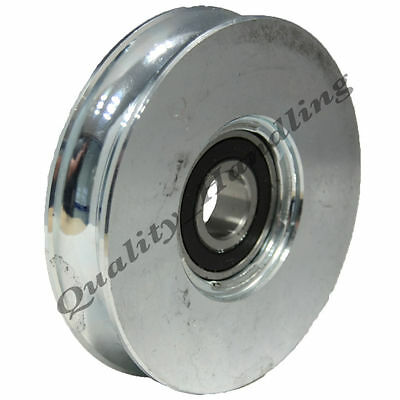 sliding gate wheel pulley 200mm Round groove steel Double ball bearings 2BB