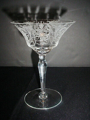 Morgantown Clear Etched Milan Champagne Tall Sherbet Goblet