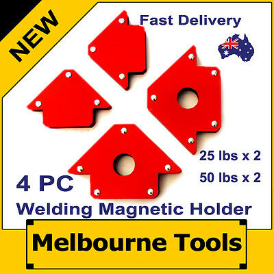 4PC Magnetic Welding Arrow Holders Tools Set, 2x25 lbs + 2x50 lbs, Right Angles