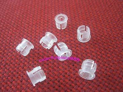 100pcs, 5mm White Plastic ABS LED Bezel Holder Holders Panel Display for 5mm Led