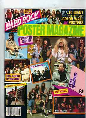 Hard Rock Poster Magazine From 1986 (Twisted Sister - Jeff Beck - Townshend)