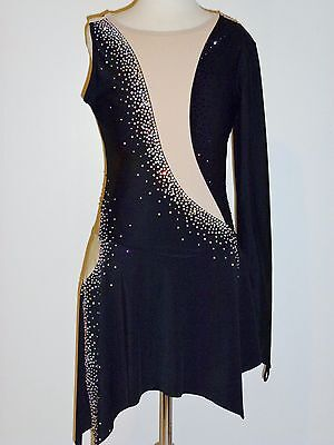 CUSTOM MADE TO FIT Gorgeous Figure Skating Dress WITH CRYSTALS *SALE*!!