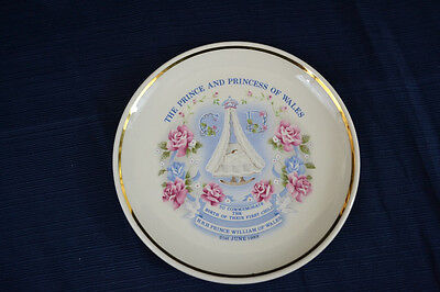 Vintage 1982 PRINCE WILLIAM Commemorative Birth Plate Prinknash Pottery