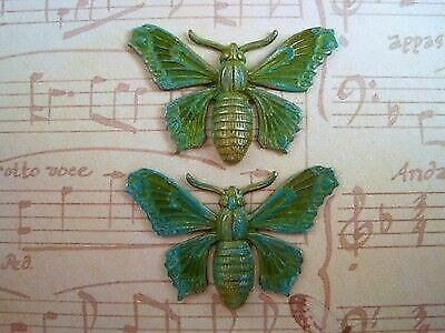 VPFFA14032 Jewelry Finding 1 Large Solid Verdigris Patina Brass Dragonfly