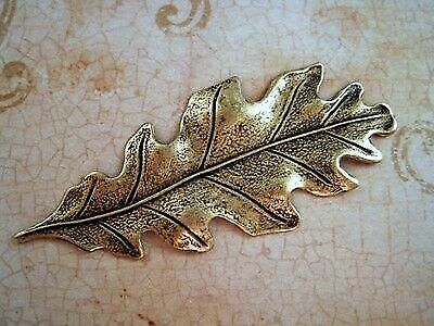 Small Oxidized Brass Plated Oak Leaf Stampings 2 BOS2989 Jewelry Finding