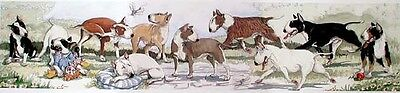 Bull Terrier Ltd ED Dog Print by E. Groves