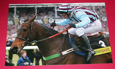 Jim Culloty Best Mate Hand Signed Autograph 12X8 Photo Cheltenham Gold Cup
