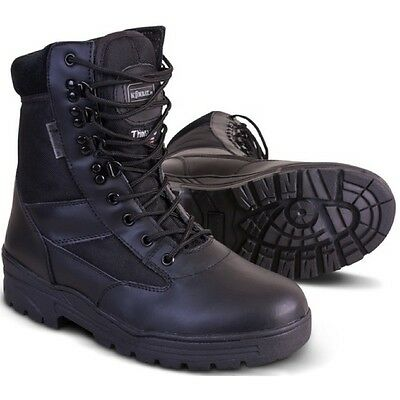 Military Boots Thinsulate Patrol Black Shoes Mens Hiking Police Security Fishing