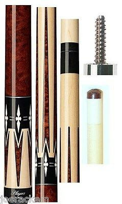 NEW Players G-2290 Pool Cue - G2290 FREE Joint caps - Graphic Series - No Wrap