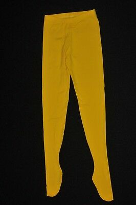 Bal Togs Adult sizes from small to medium yellow  cotton-lycra footed leggings