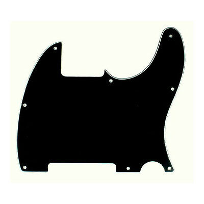(B25) Replacement Tele Esquire Style Guitar Pickguard ,3ply Black