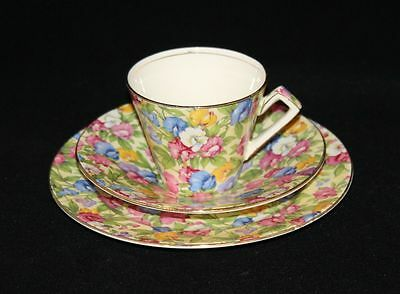 Royal Winton Grimwades England Sweet Pea Chintz Cup Saucer and Plate