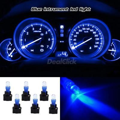 6 PC74 Twist Sockets +6 Blue 70 73 Instrument Panel Cluster Dash Led Light Bulbs