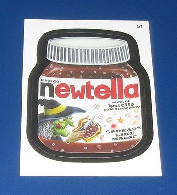 WACKY PACKAGES ANS10 RED LUDLOW NEWTELLA #51   @@  VERY RARE  @@