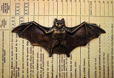 X-Large Antiqued Brass Bat (1)-ANTFFA14021 Jewelry Finding