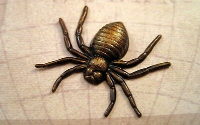 Antiqued Brass Spider Stamping (1) - ANTFFA14047 Jewelry Finding